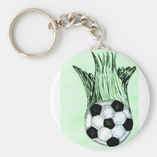 Chaveiro Esboço 4 da bola de futebol