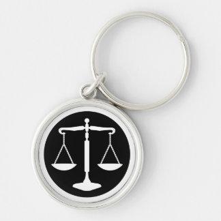 Chaveiro Escalas clássicas de advogados de justiça |