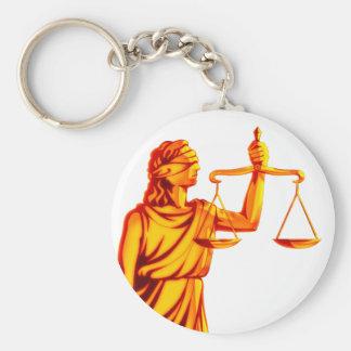 Chaveiro Escalas de Themis de justiça