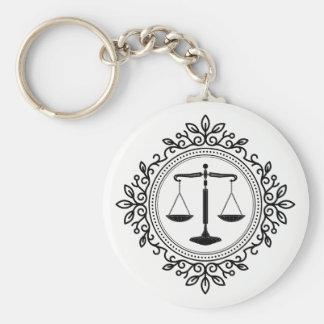 Chaveiro Escalas do advogado de justiça |