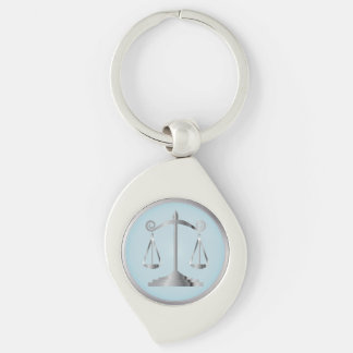Chaveiro Escalas do azul do Aqua do advogado   da lei   de