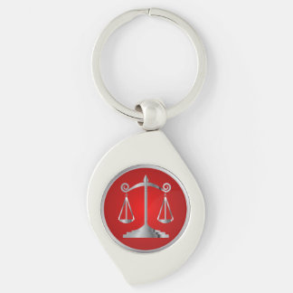 Chaveiro Escalas do vermelho do advogado | da lei | de