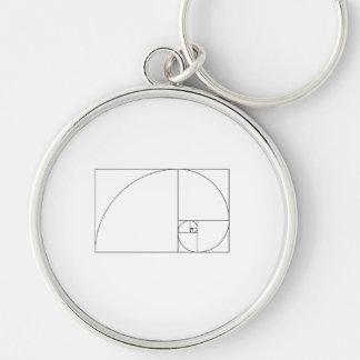 Chaveiro Espiral de Fibonacci