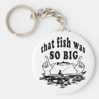 Chaveiro Esse peixe era humor de vanglória do pescador tão