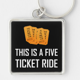 Chaveiro Este é um passeio de cinco bilhetes