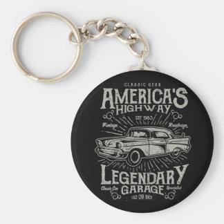 Chaveiro Estrada do carro | Hotrod americano clássico do