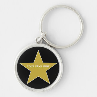 Chaveiro Estrela customizável do ouro