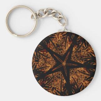 Chaveiro Estrela Kaleidoscopic escura elegante de Brown do
