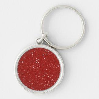 Chaveiro Estrelas do brilho - vermelho de prata