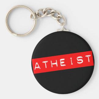 Chaveiro Etiqueta ateu de Dymo