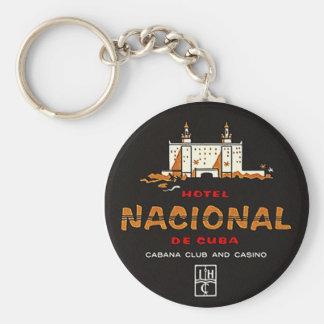 CHAVEIRO ETIQUETA DO ANÚNCIO DO VINTAGE DO HOTEL NACIONAL