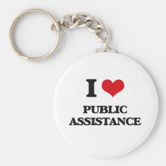 Chaveiro Eu amo a assistência pública