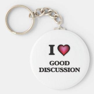 Chaveiro Eu amo a boa discussão