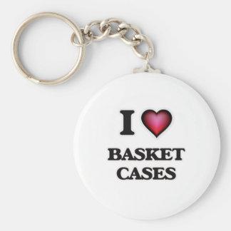 Chaveiro Eu amo a caixa de cesta