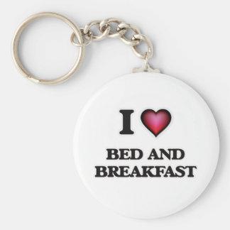 Chaveiro Eu amo a cama - e - pequeno almoço