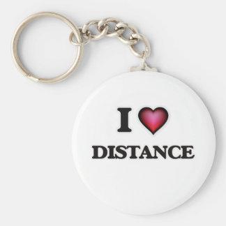 Chaveiro Eu amo a distância