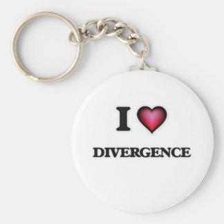 Chaveiro Eu amo a divergência