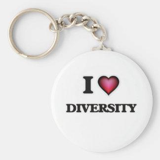 Chaveiro Eu amo a diversidade