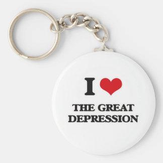 Chaveiro Eu amo a Grande Depressão