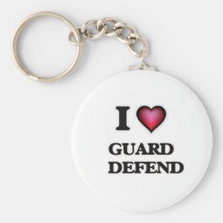 Chaveiro Eu amo a guarda   defendo