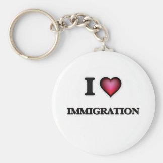 Chaveiro Eu amo a imigração