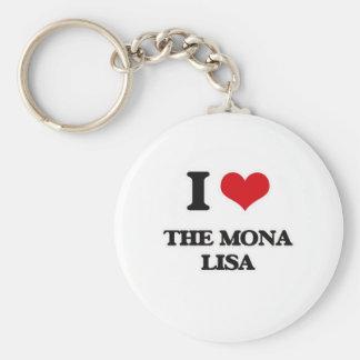 Chaveiro Eu amo a Mona Lisa