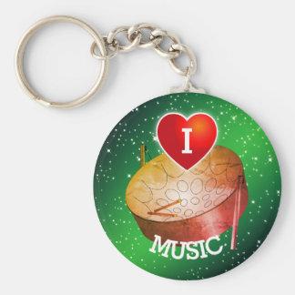 Chaveiro Eu amo a música da bandeja (do coração)