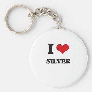 Chaveiro Eu amo a prata