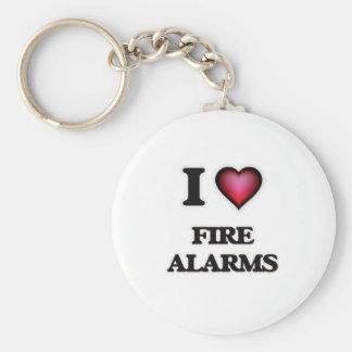 Chaveiro Eu amo alarmes de incêndio