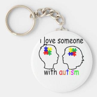 Chaveiro eu amo alguém com autismo ''.