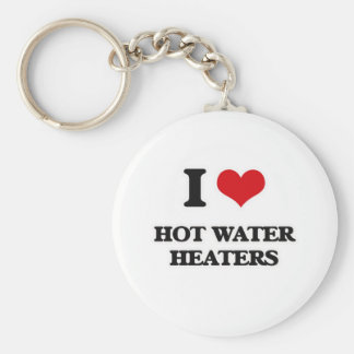 Chaveiro Eu amo aquecedores de água quentes