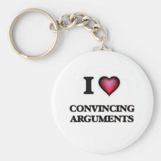 Chaveiro Eu amo argumentos de forma convincente