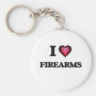 Chaveiro Eu amo armas de fogo