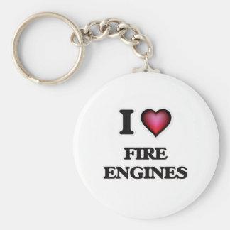 Chaveiro Eu amo as viaturas de incêndio