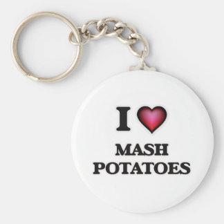 Chaveiro Eu amo batatas de erva-benta