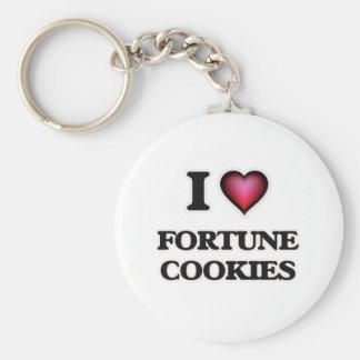 Chaveiro Eu amo biscoitos de fortuna