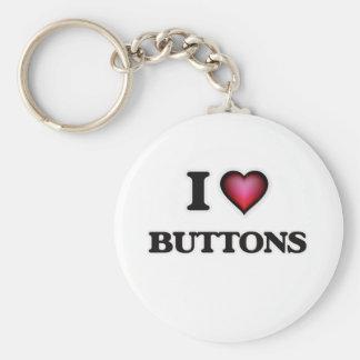 Chaveiro Eu amo botões