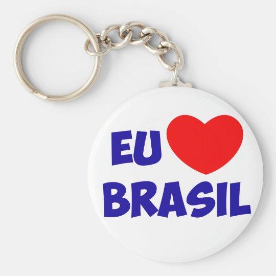 Chaveiro eu amo Brasil