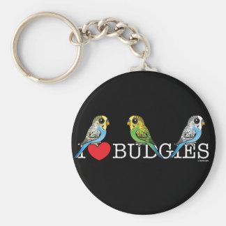 Chaveiro Eu amo Budgies