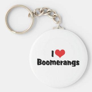 Chaveiro Eu amo Bumerangues do coração