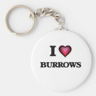 Chaveiro Eu amo Burrows