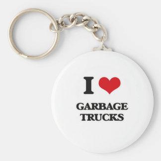 Chaveiro Eu amo caminhões de lixo