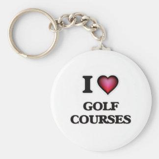 Chaveiro Eu amo campos de golfe