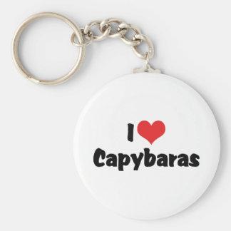 Chaveiro Eu amo Capybaras do coração