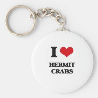 Chaveiro Eu amo caranguejos de eremita