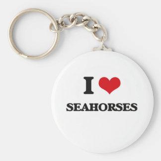Chaveiro Eu amo cavalos marinhos
