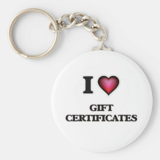 Chaveiro Eu amo certificados de presente