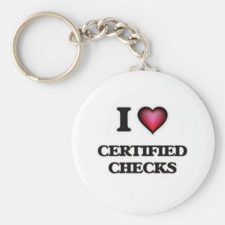 Chaveiro Eu amo cheques certificados