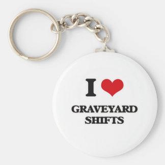 Chaveiro Eu amo deslocamentos de cemitério
