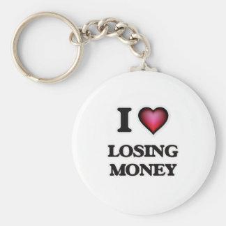 Chaveiro Eu amo dinheiro perdedor